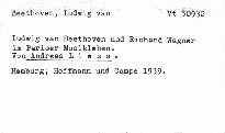 L. van Beethoven und R. Wagner im Pariser Musikleb
