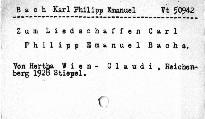 Zum Liedschaffen Carl Philipp Em. Bachs