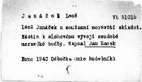 Leoš Janáček a současní moravští skladatelé