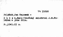 Valašský skladatel J.N. Polášek a jeho dílo