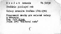 Oslavy Antonína Dvořáka 1841-1941