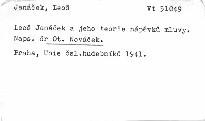 Leoš Janáček a jeho theorie nápěvků hudby