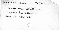 Antonín Dvořák přátelům doma