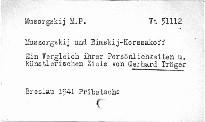 Mussorgskij und Rimskij-Korsakoff