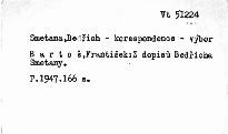 Z dopisů Bedřicha Smetany