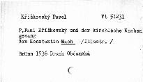 P. Paul Křížkovský und der kirchliche Knabengesang