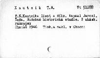 T. N. Kautnika život a dílo