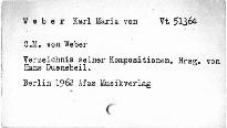 C. M. von Weber