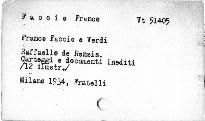 Franco Faccio e Verdi
