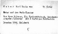 Weber auf dem Welt-Theater