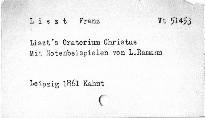 Franz Liszt's Oratorium Christus