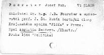Skladatel Dr.h.c.J.B.Foerster a spisovatel prof.