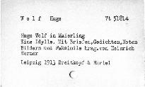 Hugo Wolf in Maierling