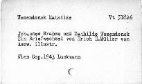 Johannes Brahms und Mathilde Wesendonck