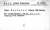 Über Kantaten Johann Sebastian Bachs
