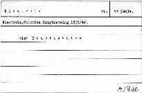 Electrola, Columbia Hauptkatalog 1939/40