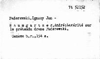 La vérité sur le prétendu drame Paderewski