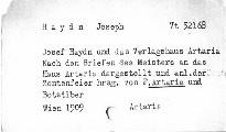 Joseph Haydn und das Verlaghaus Artaria