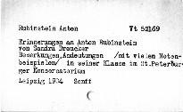 Erinnerungen an Anton Rubinstein