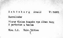 Gurrelieder. Arnold Schönberg