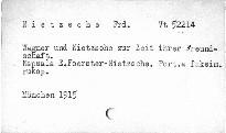 Wagner und Nietzsche zur Zeit ihrer Freundschaft