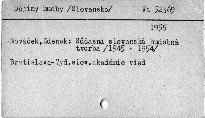Súčasná slovenská hudobná tvorba 1945-1954