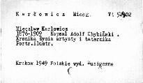 Mieczyslav Karlowicz