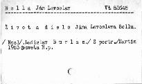 Život a dielo Jána Levoslava Bellu