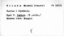 Ruslan i Ljudmila M.Glinki