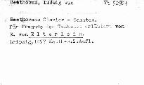 Beethoven's Clavier-Sonaten