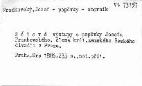 Sólové výstupy a popěvky Josefa Frankovského