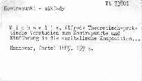 Theoretisch-praktische Vorstudien zum Kontrapunkte und Einführung in die musikalische Komposition mit zahlreichen in den Text gedruckt