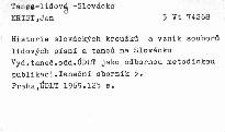 Historie slováckých krúžků a vznik souborů lidových písní a tanců na Slovácku