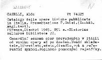 Catalogo delle opere liriche pubblicate in Italia
