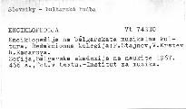 Enciklopedija na bolgarskata muzikalna kultura