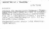 Jahrbuch für musikalische Volks und Völkerkunde