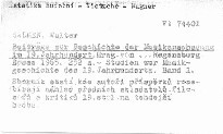 Beiträge zur Geschichte der Musikanschauung im 19. Jahrhundert