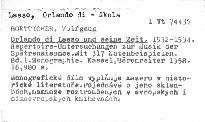 Orlando di Lasso und seine Zeit                         (Band I)