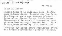 Chopin - Konzert in Zelazowa Wola