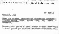Úvod do studia harmonické struktury moravské lidov