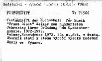 """Festschrift der Hochschule für Musik """"Franz Lizst"""""""