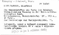 Die Handschriften und Varia der Schubertiana-Samml
