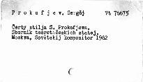 Čerty stilja S. Prokofjeva