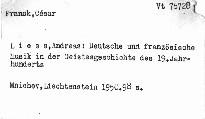 Deutsche und französische Musik in der Geistesgeschichte des 19. Jahrhunderts