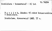 45 rokov Konzervatória v Bratislave