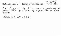 Evidence gramofonových desek