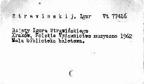 Balety Igora Strawinskiego