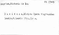Opera Biographies