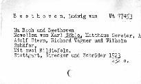 Um Bach und Beethoven