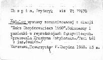 """Katalog wystawy zorganizowanej u okazji """"Roku Chop"""